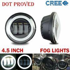 "4.5Inch LED Passing Lights Black Fog Spot lamp angle for Harley Davidson 4-1/2"""