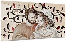 Quadro Moderno Capezzale Sacra Famiglia H Albero Arredo Casa Arte Stampa Tela