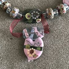 Totally Exquisite Top Artist Manuela Wutschke Heart Focal Lampwork Bead Set