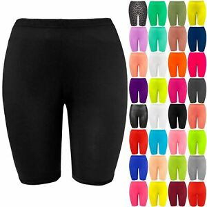 Plus Size New Ladies Womens Leggings Stretch Lycra Casual Sports Cycling Shorts
