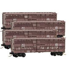 N Scale MICRO-TRAINS Line 993 00 141 MISSOURI PACIFIC Stock Car RUNNER PACK 4-PK