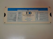 Electronic Specialty Division Datron Systems Relay Selection Slide Rule 1974
