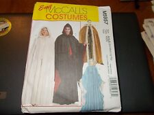 McCalls Costume Pattern M5957 Mens/Misses EZ Hooded Capes ~ Vampire & More S- XL