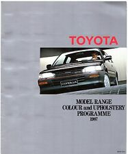 Toyota Colour & Trim 1987 UK Brochure Starlet Corolla MR2 Carina Celica Camry