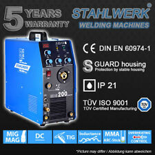 Welder STAHLWERK MIG MAG 200 with TIG & MMA - SHIELDING GAS Welding Inverter