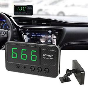 Car Digital GPS Speedometer Head-Up Display Overspeed MPH/KM Tired Warning Alarm