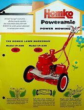 Homko Poweramic Power Mowing Brochure Lawn Marksman Des Moines Iowa 1959