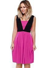 Kimberley Walsh Pink Black Party Prom Dress Size 12 BNWT