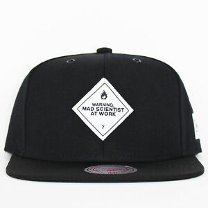 Mitchell & Ness x Capology Mad Scientist At Work Black Snapback Cap