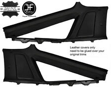 BLACK STITCH 2X UPPER REAR QUARTER PANEL LTHR COVER FITS TOYOTA SUPRA MK3 86-93
