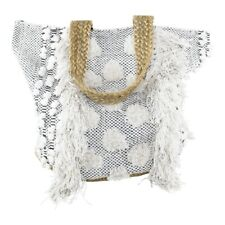 Jute Tasche Shopper Baumwolle Schultertasche Handtasche 40x60 Mars&More Fransen