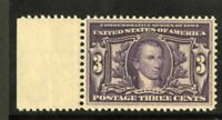 US Stamps # 325 3c Monroe SUPERB OG NH
