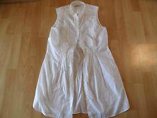 0039 ITALY schöne ärmellose lange Bluse Boho Stil weiß  Gr. M TOP BI216