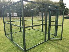 NEW PVC Coated Green Animal Outdoor Heavy Duty Run Pet Pen Dogs Cats 12G 8FTX8FT