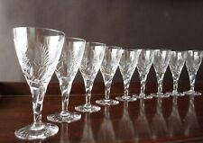 More details for 9 stuart crystal ellesmere cut port and sherry glasses, mixed lot 5+4
