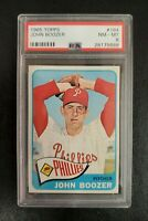 1965 Topps #184 JOHN BOOZER (Phillies) **PSA 8 (NM-MT)** CENTERED & SHARP! L@@K!