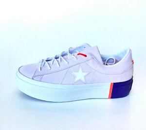 Converse Cons One Star Platform OX Sneaker Damen Women Lila Orange Weiß 559902C