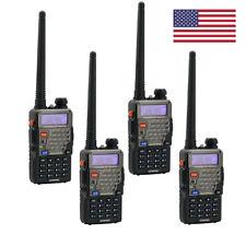 US 4x Baofeng UV-5R Plus Dual Band VHF/UHF CTCSS/DCS 128CH VOX FM Two way Radio