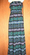 forever 21 100% Rayon Elastic Chest/Waist Full Length Strapless/Tube Dress L