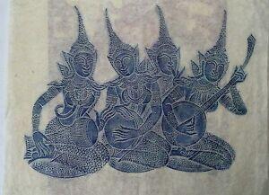 Temple Rubbings XIII Blue By Temple