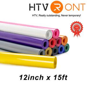 12''x15FT Heat Transfer Vinyl Rolls HTV Vinyl for Silhouette, Cricut Heat Press