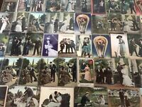 Big Lot of 84~Romance Romantic~Vintage Antique~Postcards-Men Ladies-People--g286