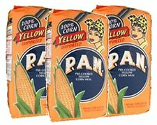 3x Harina PAN Yellow CornMeal Flour 3 x 1 Kg Venezuela