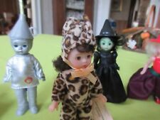 Mde Alex Mini Dolls Halloween Witch Leopard Wizard Of Oz Tin Man Scarecrow Fun!