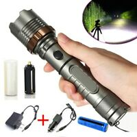 900000LM Tactical Police T6 LED 5Modes Rechargeable Flashlight Torch Zoomable US