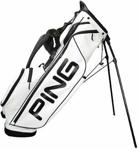 Ping Pin Team Mascot2 Color Custom Stand Caddy Bag Ping34146-26513 White + Black