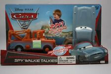 DISNEY CARS 2 TOW MATER & MCMISSILE 2-IN-1 WALKIE TALKIES & SPY LISTENING DEVICE