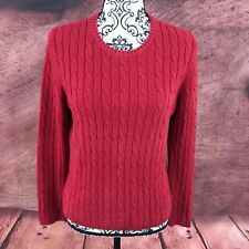 St. John's Bay Petites Womens Red Cable Knit Sweater Size PM