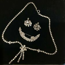 Vintage JAY FLEX Sterling Silver Brooch, necklace and earrings, signed