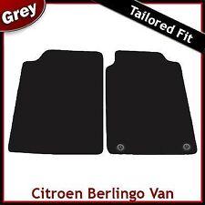 Citroen Berlingo Van Mk1 1996-2007 2-Clips Tailored Fitted Carpet Car Mats GREY