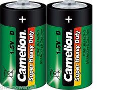 2 x Camelion Super Heavy Duty Mono D R20 Zink Carbon Folie R20 Batterie 10100220