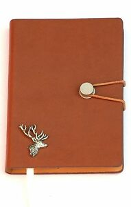 Stag Head Pewter Motif A6 notebook Pocket Size Note Pad Ideal Hunting Gift 347