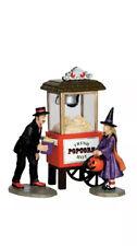 Lemax Spookytown Popcorn Treats Cart -Village/Carnival Set of 3