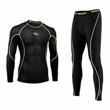 Mens Compression Gym Pants Running Cycling Legging Compression Base Layer Shirt