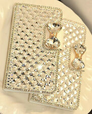 Wallet Stand Bling Crystal Diamond Leather Case Cover For Samsung Note4 3 S6 5 4