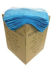 "240 Case 12""x12"" Economy Grade Microfiber Cleaning Cloths/Auto 220GSM Light Blue"
