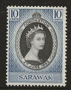 Sarawak Scott #196, Single 1953 Complete Set FVF MH