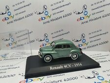RENAULT 4 CV - 1954 -  1:43 eme    avec boite plexi  (  neuf  )