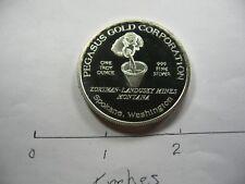 Pegasus Gold Corp 1984 Zortman Landusky Mines Montana Very Rare 999 Silver Coin