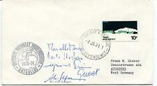 1974 Consiglio Nazionale delle Ricerche Antartide Polar Antarctic Cover SIGNED