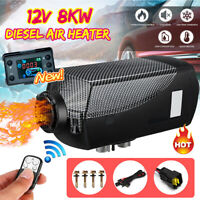 12V 8KW Diesel Air Heater LCD Thermostat Quiet w/ Remote Control Car Boat Truck