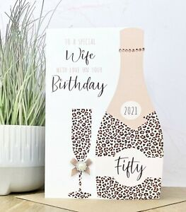 Large Personalised Handmade Birthday Card 18th,21st.30th,40th,50th,60th,70th