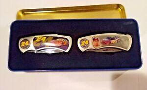 Nascar knife set with tin Jeff Gordon