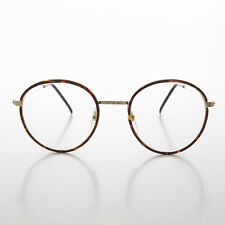 Round Gold Tortoiseshell Wrapped Polo Style Vintage Glasses Red Tort -EINSTEIN