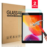 {2-Pack } Tempered Glass Screen Protector For iPad 10.2 inch 2019 7th Gen HD