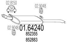 MTS Silencioso posterior OPEL VECTRA 01.64240